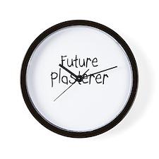 Future Plasterer Wall Clock