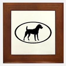 Jack Russell Oval Framed Tile