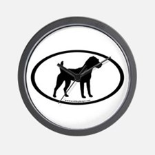 Jack Russell Oval Wall Clock