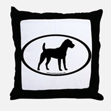 Jack Russell Oval Throw Pillow