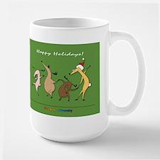 Large Reindeer Christmas Mug