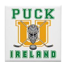 Funny Ireland Hockey Tile Coaster