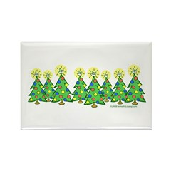 ILY Christmas Forest Rectangle Magnet
