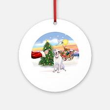 Treat for a Pitbull Ornament (Round)