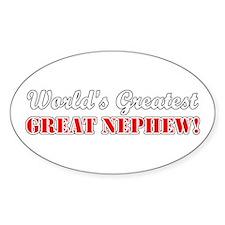 World's Greatest Great Nephew Oval Decal