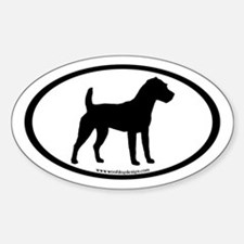 Jack Russell Oval (inner border) Oval Decal