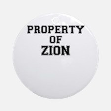 Property of ZION Round Ornament