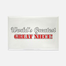 World's Greatest Great Niece Rectangle Magnet