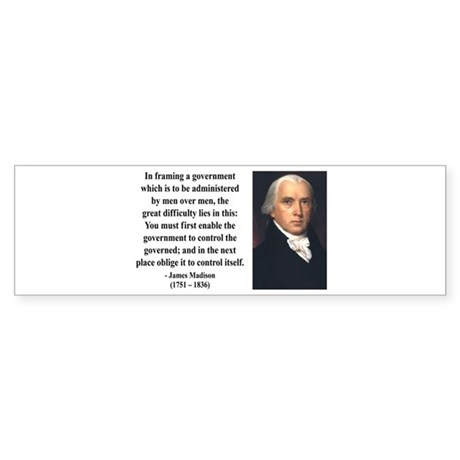 James Madison 4 Bumper Sticker