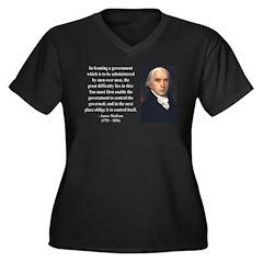 James Madison 4 Women's Plus Size V-Neck Dark T-Sh