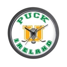 Funny Ireland Hockey Wall Clock