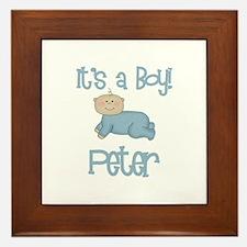 Peter - It's a Boy  Framed Tile