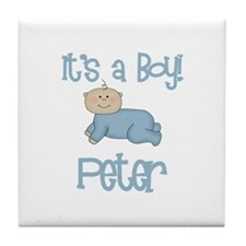 Peter - It's a Boy  Tile Coaster