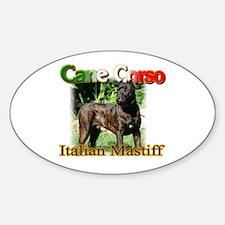 Cane Corso Italiano Oval Decal