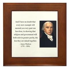 James Madison 7 Framed Tile