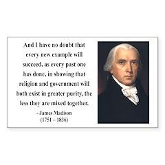 James Madison 7 Rectangle Decal