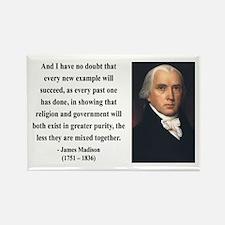 James Madison 7 Rectangle Magnet