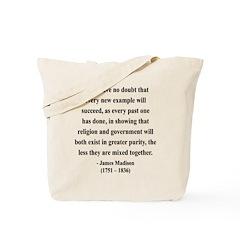 James Madison 7 Tote Bag