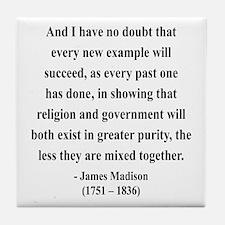 James Madison 7 Tile Coaster