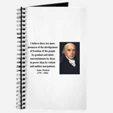 James Madison 8 Journal