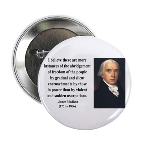 """James Madison 8 2.25"""" Button (100 pack)"""