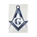 The Blue Masonic Lodge Rectangle Magnet (100 pack)