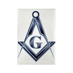 The Blue Masonic Lodge Rectangle Magnet (10 pack)