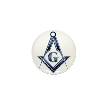 The Blue Masonic Lodge Mini Button