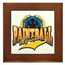 Paint Ball My Sport Framed Tile
