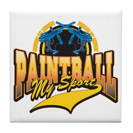 Paint Ball My Sport Tile Coaster