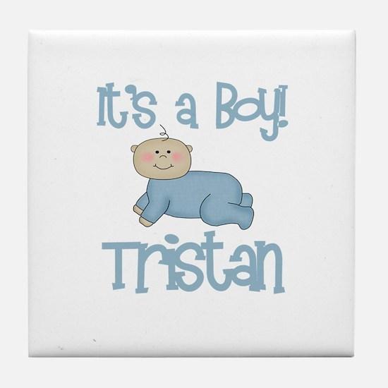 Tristan - It's a Boy  Tile Coaster