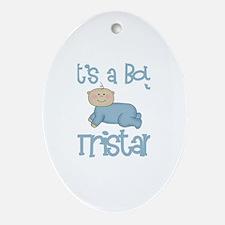 Tristan - It's a Boy  Oval Ornament