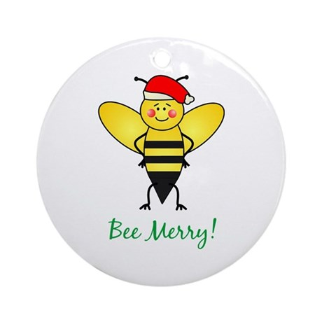 Bee Merry Ornament (Round)