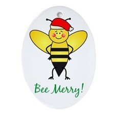 Bee Merry Oval Ornament