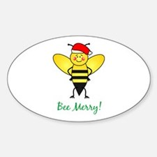 Bee Merry Oval Decal