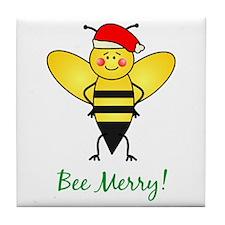 Bee Merry Tile Coaster
