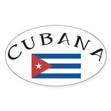 CUBANA Oval Bumper Stickers