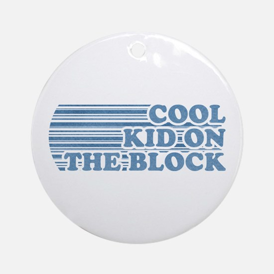 Cool Kid on the Block Boy Ornament (Round)