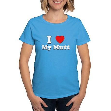 I Love My Mutt Women's Dark T-Shirt