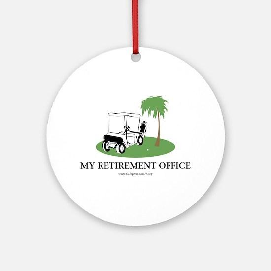 Golf Retirement Ornament (Round)