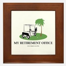 Golf Retirement Framed Tile