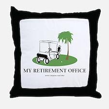 Golf Retirement Throw Pillow