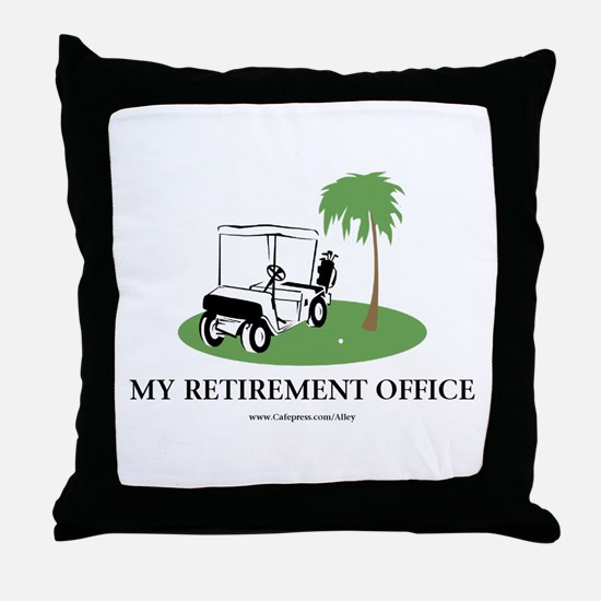 Golf Retirement Throw Pillow