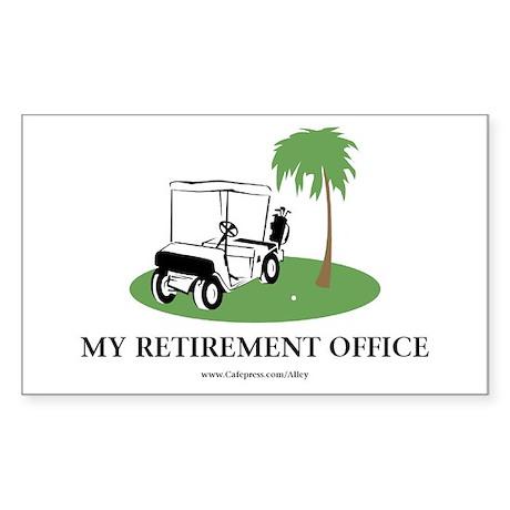 Golf Retirement Rectangle Sticker