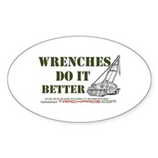 Wrenches Do It Better Oval Decal