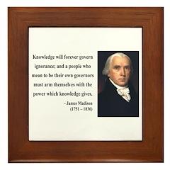 James Madison 12 Framed Tile