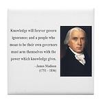 James Madison 12 Tile Coaster