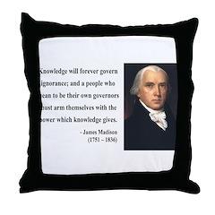 James Madison 12 Throw Pillow