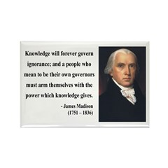 James Madison 12 Rectangle Magnet