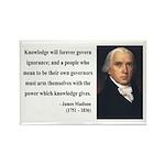 James Madison 12 Rectangle Magnet (10 pack)